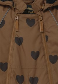 Mini Rodini - ALASKA HEARTS - Lyžařská kombinéza - brown - 4