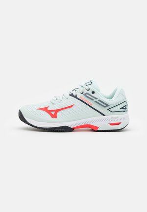WAVE EXCEED TOUR 4 CC - Tennisschoenen voor kleibanen - wan blue/ignition red/salute