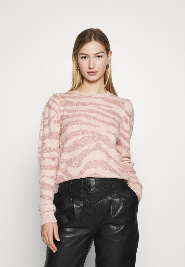 ONLCERIE - Sweter - seashell pink/gilded beige glitter