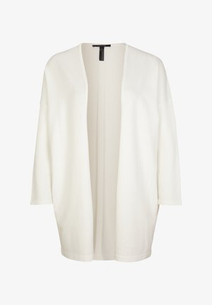 MIT GLITZERGARN - Cardigan - white