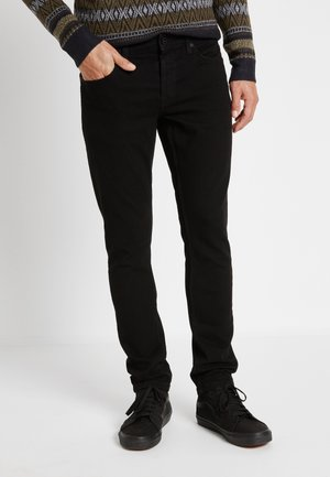 ONSLOOM BLACK - Slim fit -farkut - black denim