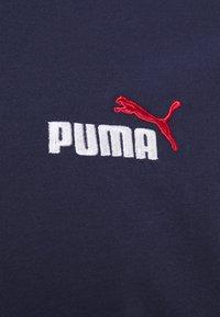 Puma - EMBROIDERY LOGO TEE - T-shirt basique - peacoat - 4