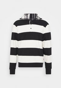 Tommy Hilfiger - LEWIS HAMILTON UNISEX STRIPED HOODED POLO - Zip-up hoodie - ivory/black - 0