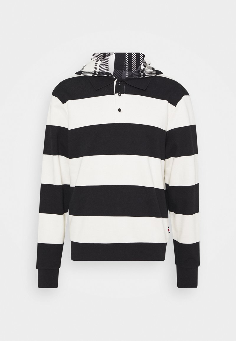 Tommy Hilfiger - LEWIS HAMILTON UNISEX STRIPED HOODED POLO - Zip-up hoodie - ivory/black