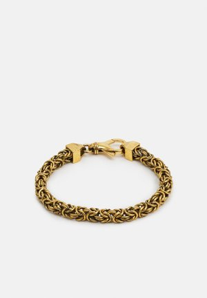 NARROW BIZANTINE CHAIN UNISEX - Pulsera - antique gold-coloured matt