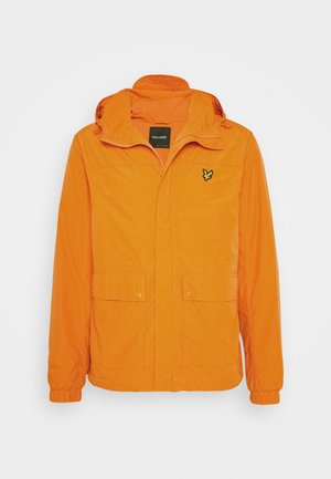 HOODED POCKET JACKET - Regenjas - risk orange