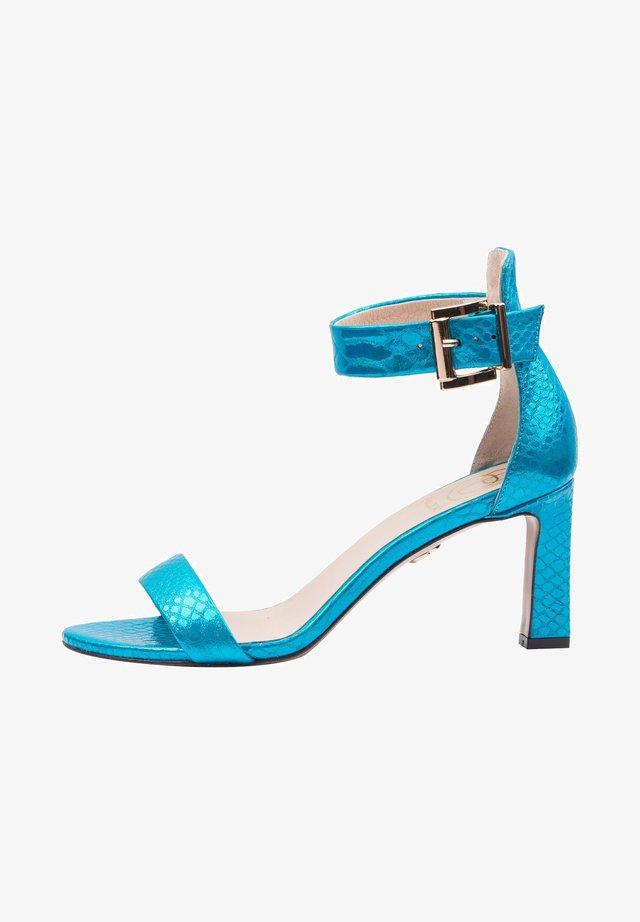 Sandały z cholewką - turkusowy