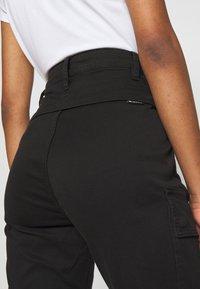 G-Star - HIGH G-SHAPE CARGO SKINNY PANT - Cargo trousers - dk black gd - 3