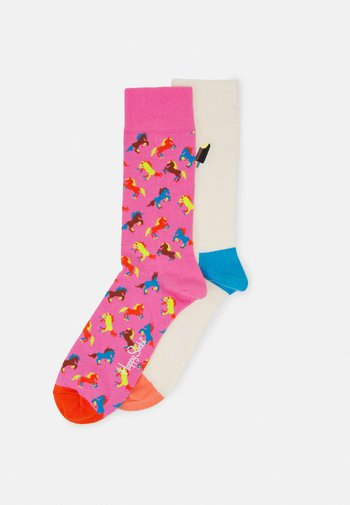 HORSE SOCK EMBROIDERY ICE CREAM SOCK UNISEX 2 PACK - Chaussettes - multi