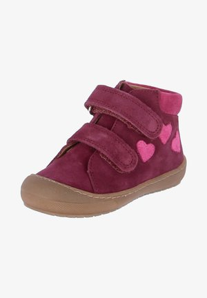 Touch-strap shoes - plum, lampone, passion