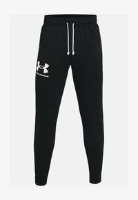 Under Armour - RIVAL TERRY  - Tracksuit bottoms - black - 3