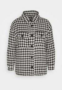 Simply Be - DOGTOOTH SHACKET - Summer jacket - black - 0