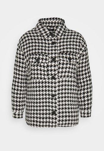 DOGTOOTH SHACKET - Summer jacket - black