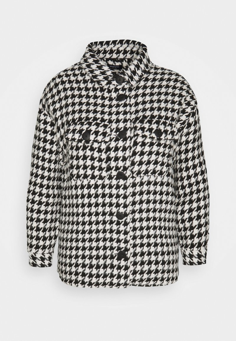 Simply Be - DOGTOOTH SHACKET - Summer jacket - black