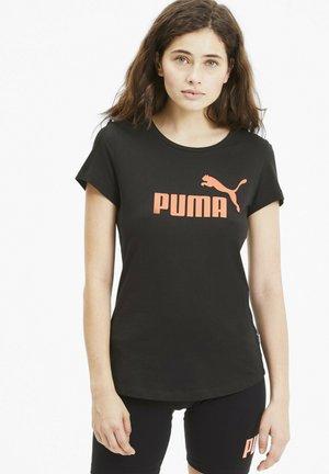 ESSENTIALS - T-Shirt print - puma black-nrgy peach