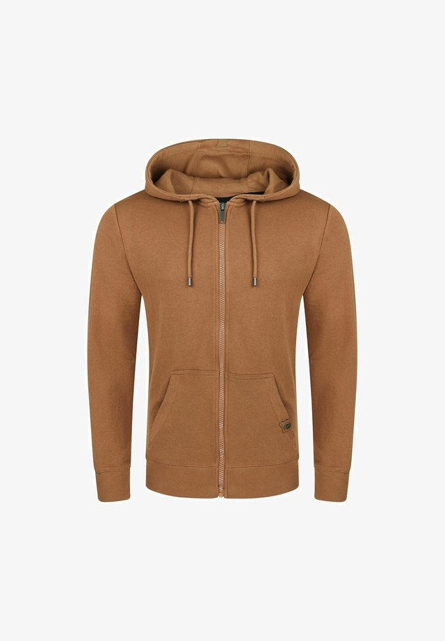RIVNILS - Zip-up hoodie - tawny brown