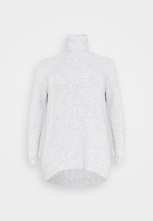 VMPLAZA ROLLNECK - Jumper - light grey melange