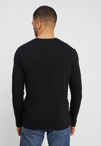 Benetton - BASIC CREW NECK - Bluzka z długim rękawem - black - 2