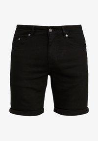 MR. ORANGE - Denim shorts - black