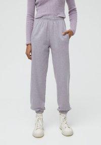 PULL&BEAR - Teplákové kalhoty - mauve - 0