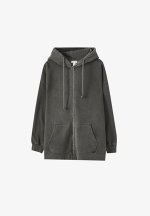 Zip-up hoodie - mottled dark grey
