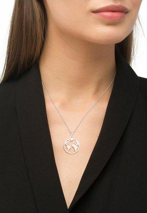MIT WELTKUGEL-ANHÄNGER, GLOBUS - Necklace - silber