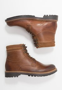 Base London - HIDE - Lace-up ankle boots - pull up tan - 1