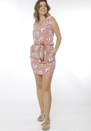 ANNALENA  - Day dress - coral flowers