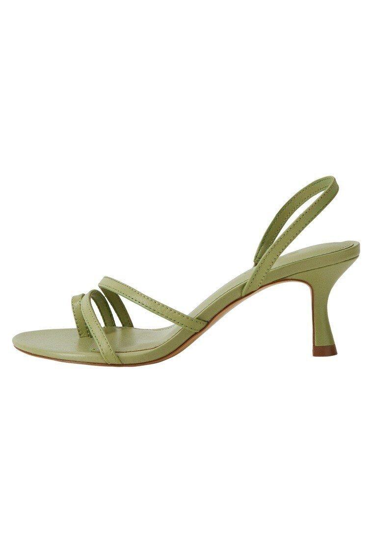 Mango - Sandalen met enkelbandjes - waldgrün