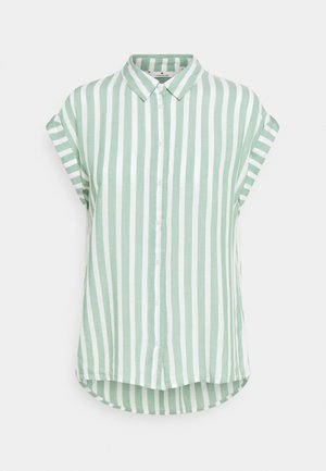 Button-down blouse - green/off-white
