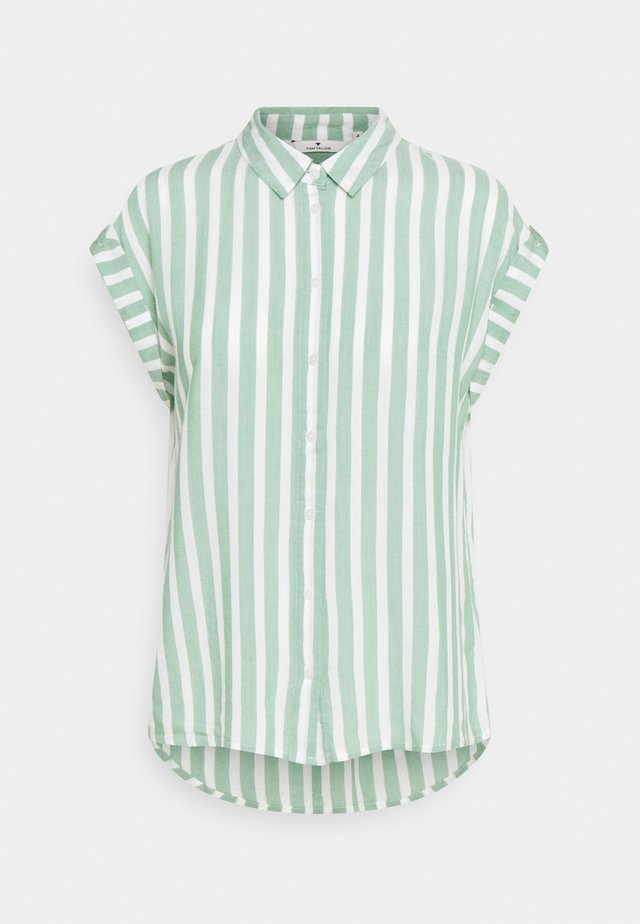 Overhemdblouse - green/off-white