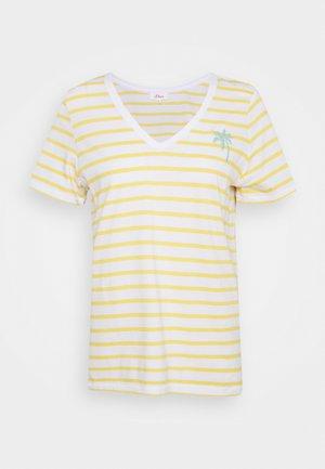 T-shirts med print - sunset yellow