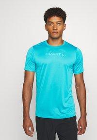 Craft - CORE ESSENCE TEE  - Print T-shirt - blue - 0