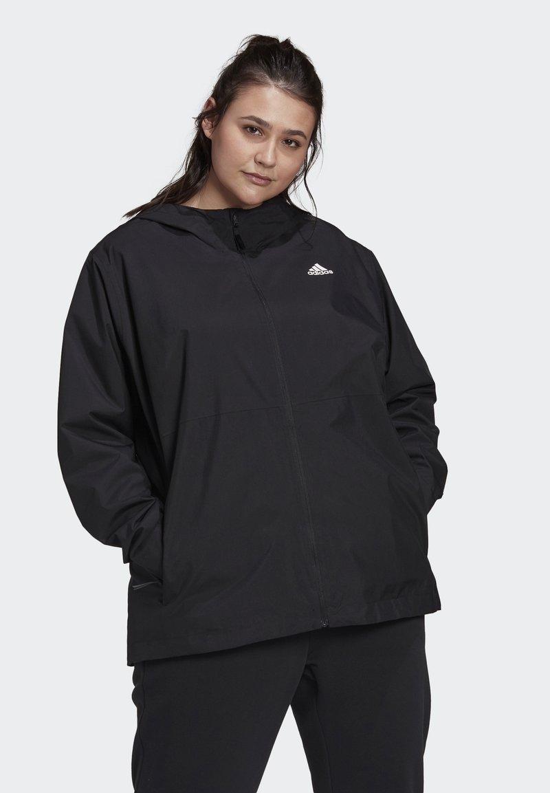 adidas Performance - BSC 3-STRIPES FOUNDATION PRIMEGREEN RAIN.RDY OUTDOOR JACKET - Waterproof jacket - black