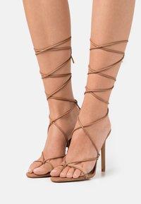 ALDO - GLAOSA - T-bar sandals - cognac - 0