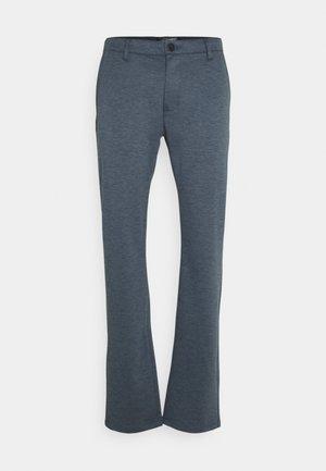 Trousers - dark navy/white