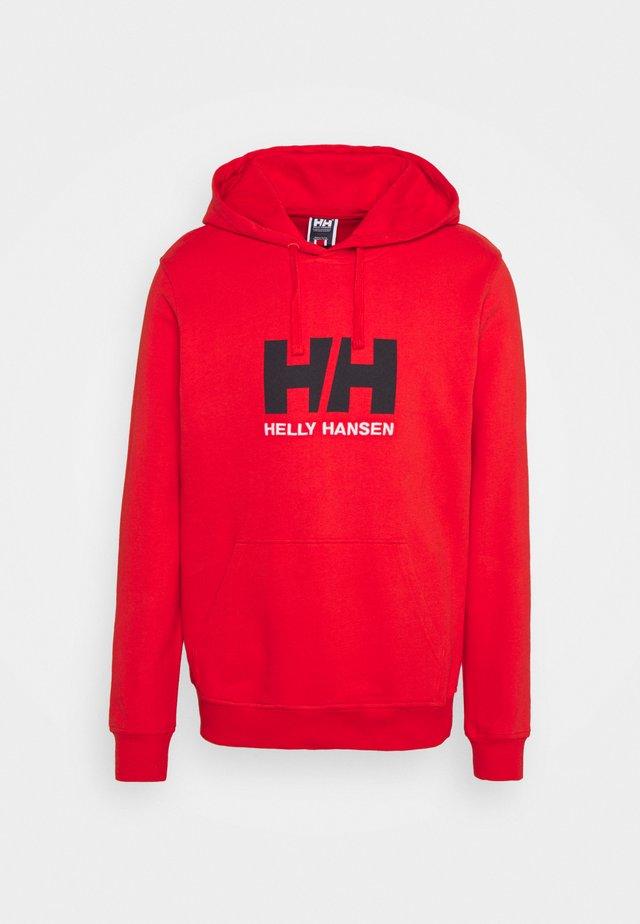 LOGO HOODIE - Bluza z kapturem - alert red