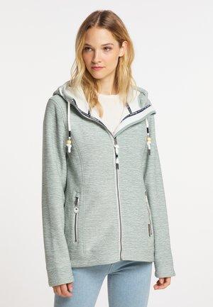 Zip-up sweatshirt - rauchmint melange