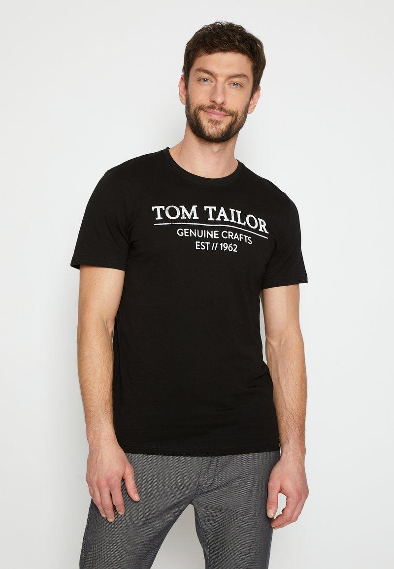 TOM TAILOR - T-shirt print - black