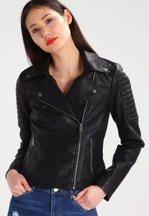 NMREBEL - Faux leather jacket - black