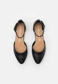 Tamaris - Ankle strap ballet pumps - black - 5