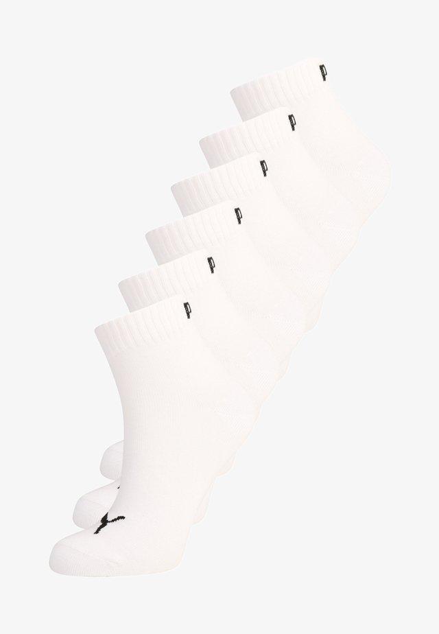 QUARTER 6 PACK - Sportssokker - white