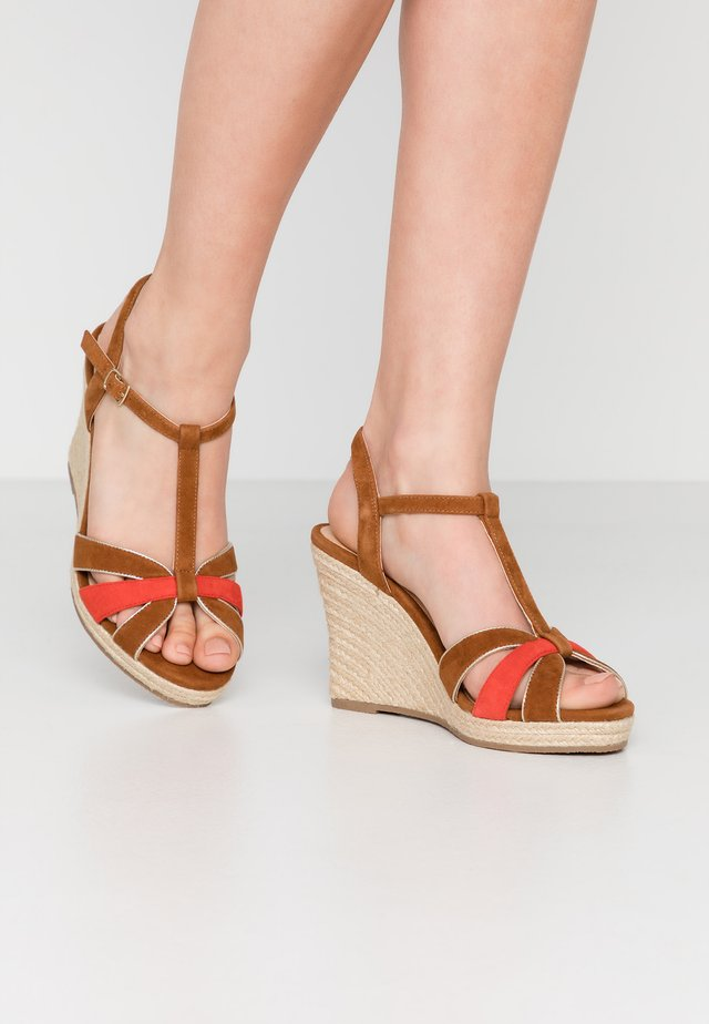 HORILLA - High heeled sandals - cognac