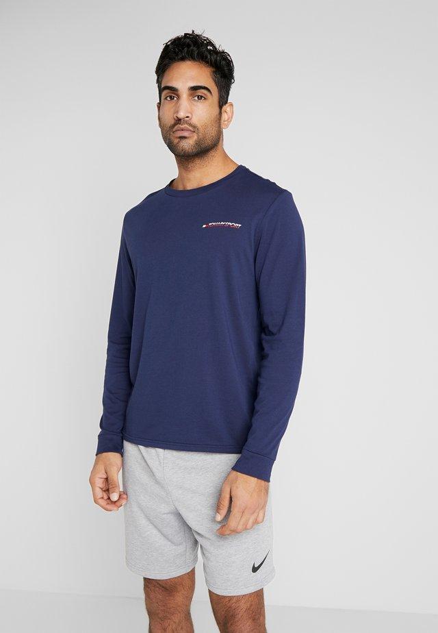 LONG SLEEVE TEE - Treningsskjorter - blue
