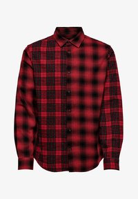 Only & Sons - ONSOZEAN MIXED CHECKED REGULAR SHIRT - Shirt - light red - 4