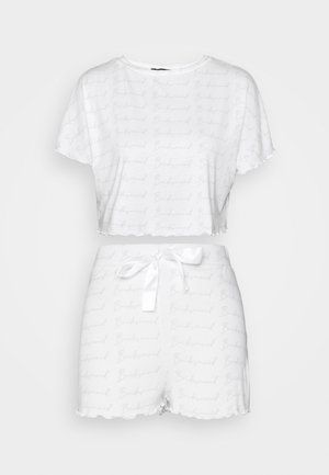 BRIDESMAID TEE AND SHORTS - Pyjamas - white