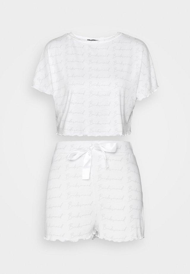 BRIDESMAID TEE AND SHORTS - Pyžamo - white