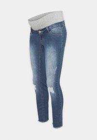 Pieces Maternity - PCMLILA  DESTROYED - Jeansy Skinny Fit - medium blue denim - 0