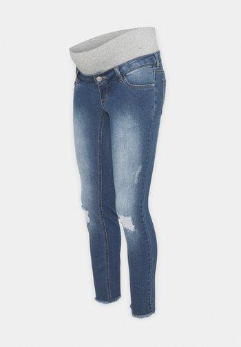 PCMLILA  DESTROYED - Jeans Skinny Fit - medium blue denim