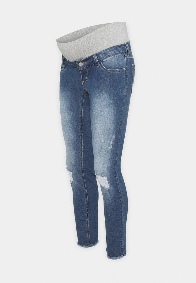 PCMLILA  DESTROYED - Skinny džíny - medium blue denim